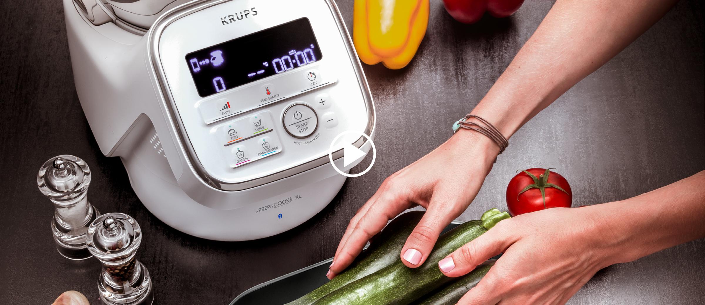 Die iPerp&Cook XL lässt sich mühelos über die APP bedienen