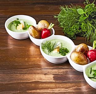 Grüne Sauce mit Ei und knusprigen Drillingen Rezept