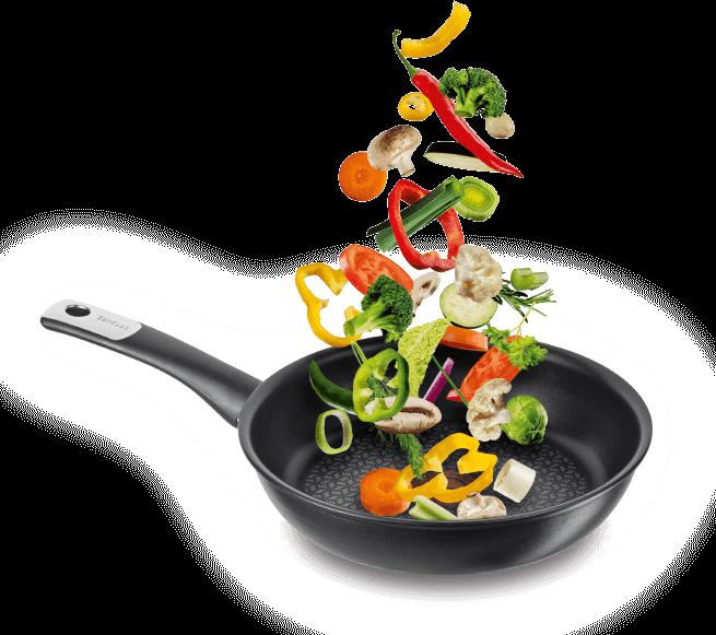 Bratpfanne mit frishem Gemüse